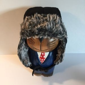 Other - Bomber Hat w/ Ear Flaps Faux Fur Adjustable Strap